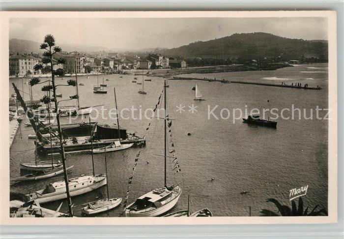 AK / Ansichtskarte Sanary sur Mer Vue panoramique le port Cote d Azur Sanary sur Mer
