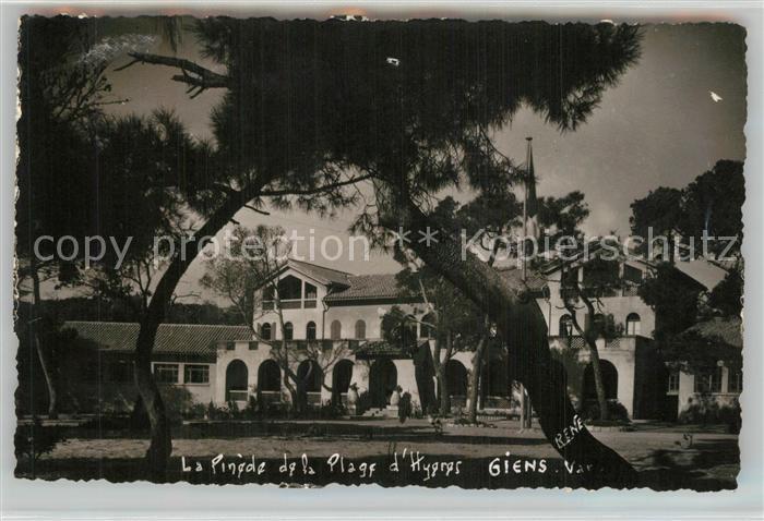 AK / Ansichtskarte Giens_Var Colonie de Vacances La Pinede de la Plage d Hyeres Giens_Var