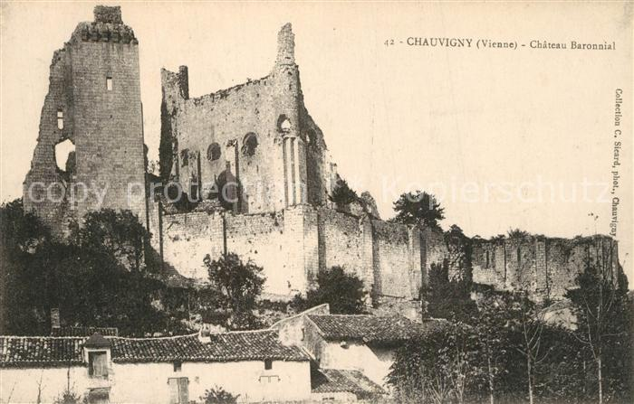 AK / Ansichtskarte Chauvigny Chateau Baronnial Chauvigny
