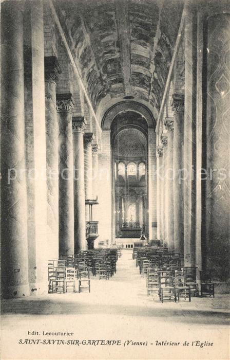 AK / Ansichtskarte Saint Savin_Vienne Interieur de l Eglise Saint Savin Vienne