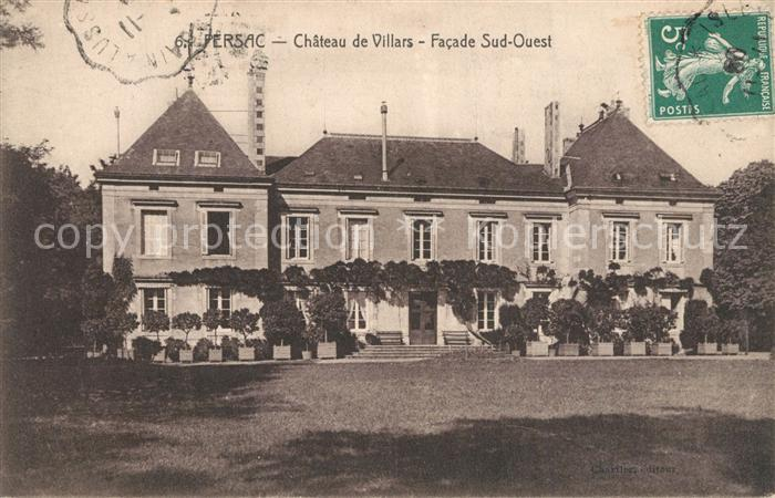 AK / Ansichtskarte Persac Chateau de Villars Facade Sud Ouest Persac