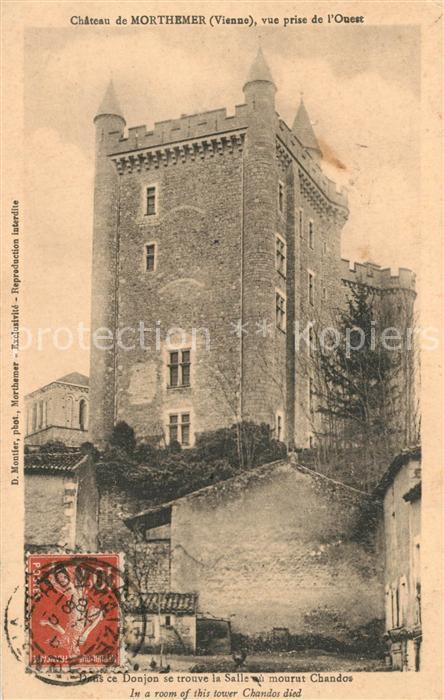 AK / Ansichtskarte Lhommaize Chateau de Morthemer vue prise de l Ouest Lhommaize 0