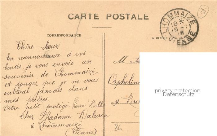 AK / Ansichtskarte Lhommaize Chateau de Morthemer vue prise de l Ouest Lhommaize 1