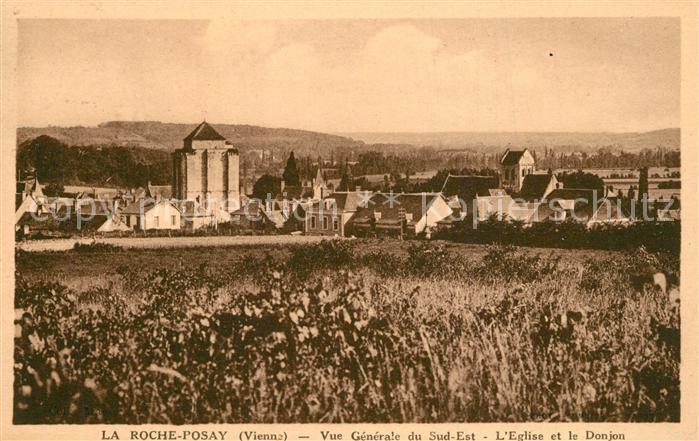AK / Ansichtskarte La_Roche Posay Vue generale Eglise et le Donjon La_Roche Posay 0