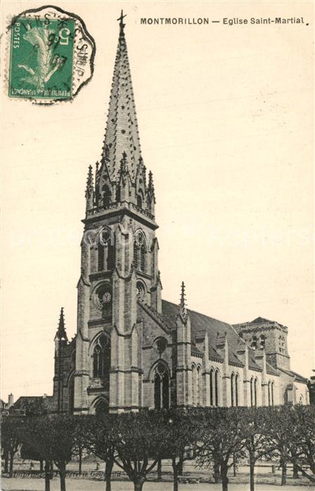 AK / Ansichtskarte Montmorillon Eglise Saint Martial Montmorillon