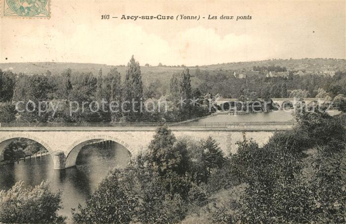 AK / Ansichtskarte Arcy sur Cure_Yonne Les deux ponts  Arcy sur Cure Yonne