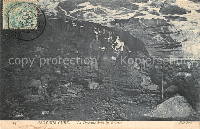 AK / Ansichtskarte Arcy sur Cure_Yonne La Descente dans les Grottes Arcy sur Cure Yonne