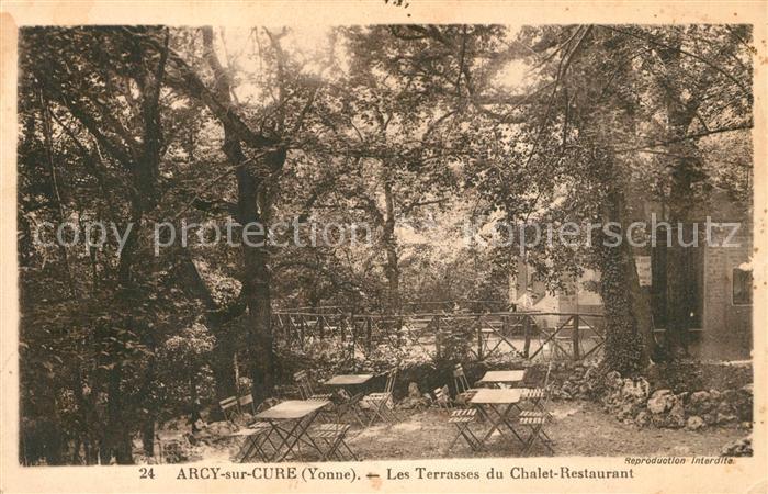 AK / Ansichtskarte Arcy sur Cure_Yonne Les Terrasses du Chalet Restaurant Arcy sur Cure Yonne 0
