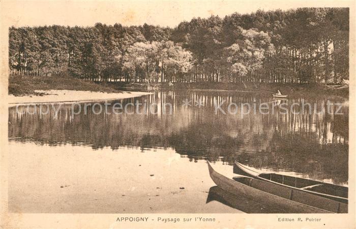 AK / Ansichtskarte Appoigny Paysage sur l Yonne Appoigny