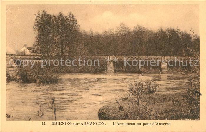 AK / Ansichtskarte Brienon sur Armancon_Bourgogne Armanconau pont d Auxerre Brienon sur Armancon