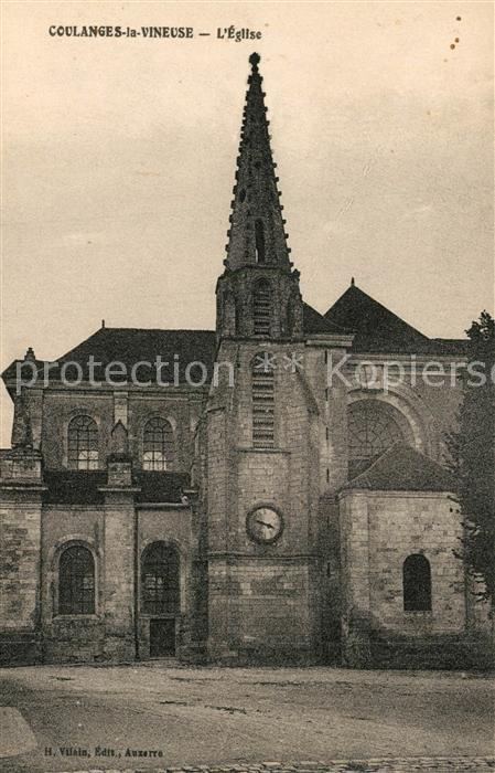 AK / Ansichtskarte Coulanges la Vineuse Eglise Coulanges la Vineuse