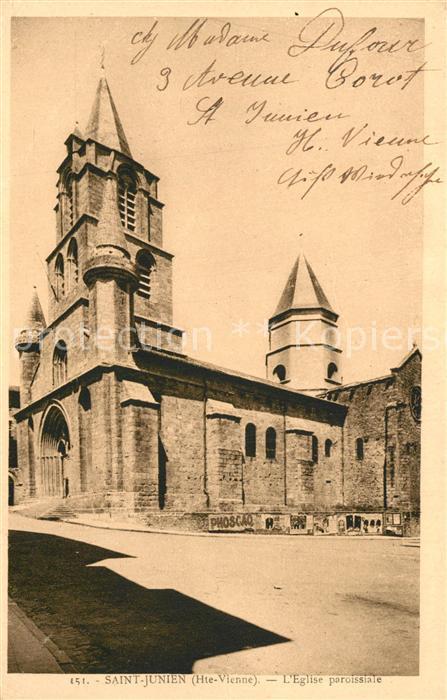 AK / Ansichtskarte Saint Junien Eglise paroissiale Saint Junien