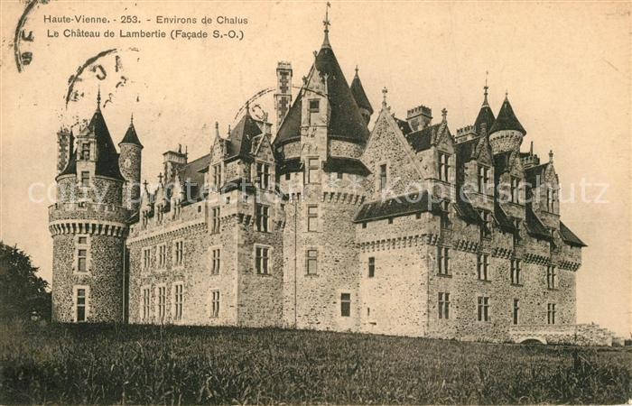 AK / Ansichtskarte Bellac Le Chateau de Lambertie Facade Bellac