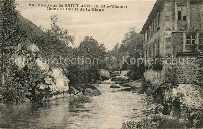AK / Ansichtskarte Saint Junien Usine et Bords de la Glane Saint Junien