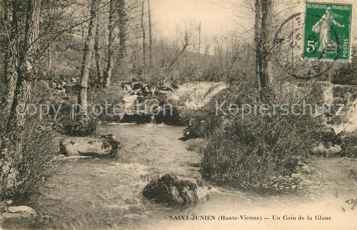 AK / Ansichtskarte Saint Junien Un Coin de la Glane Saint Junien