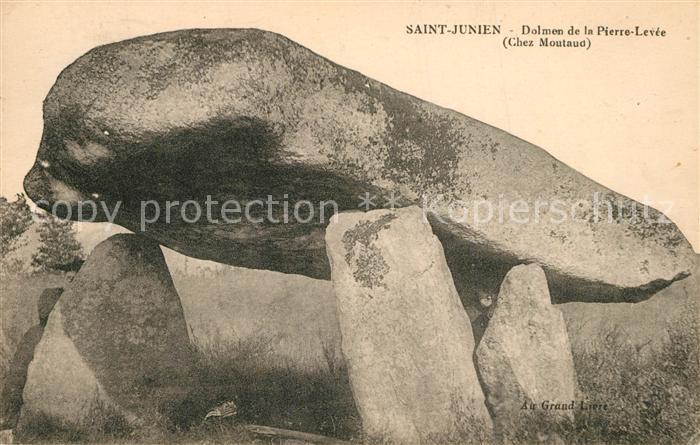 AK / Ansichtskarte Saint Junien Dolmen de la Pierre Levee Saint Junien
