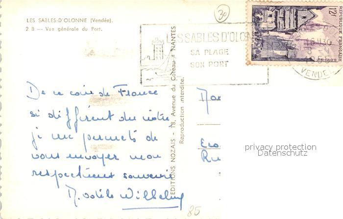 AK / Ansichtskarte Les_Sables d_Olonne Vue generale du Port Les_Sables d_Olonne 1
