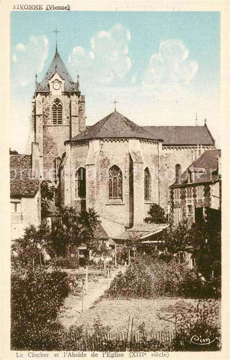AK / Ansichtskarte Vivonne Le Clocher et l'Abside de l Eglise Vivonne