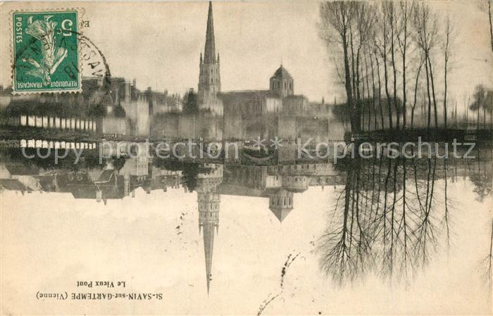 AK / Ansichtskarte Saint Savin sur Gartempe Le Vieux Pont