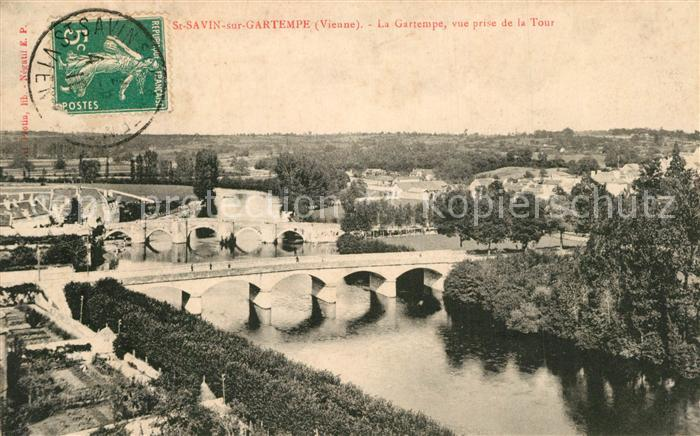 AK / Ansichtskarte Saint Savin sur Gartempe La Gartempe vue prise de la Tour
