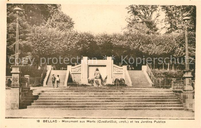 AK / Ansichtskarte Bellac Monument aux Morts et les Jardins Publics Bellac 0