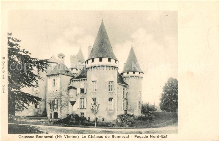 AK / Ansichtskarte Coussac Bonneval_Haut_Vienne Le Chateau de Bonneval Facade Nord Ouest Coussac Bonneval_Haut