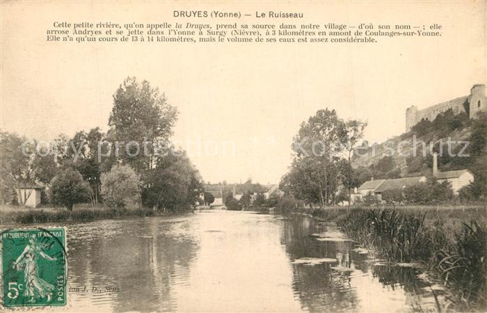 AK / Ansichtskarte Druyes les Belles Fontaines Le Ruisseau Druyes les Belles Fontaines 0