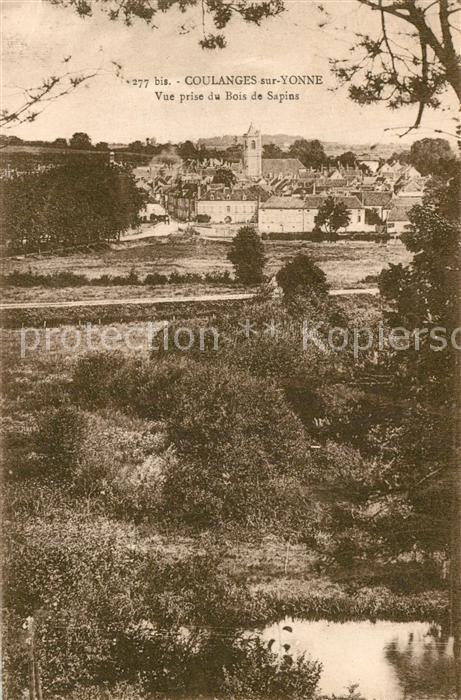 AK / Ansichtskarte Coulanges sur Yonne Vue prise du Bois de Sapins Coulanges sur Yonne