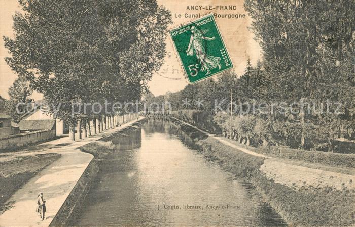 AK / Ansichtskarte Ancy le Franc Le Canal Bourgogne Ancy le Franc