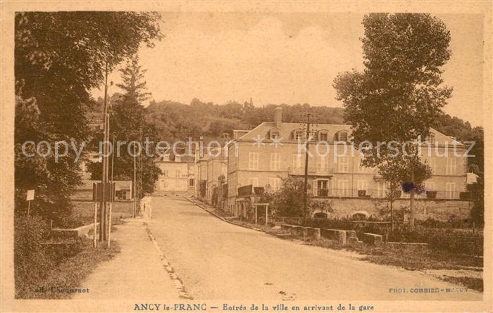 AK / Ansichtskarte Ancy le Franc Entree de la ville en arrivant de la gare Ancy le Franc