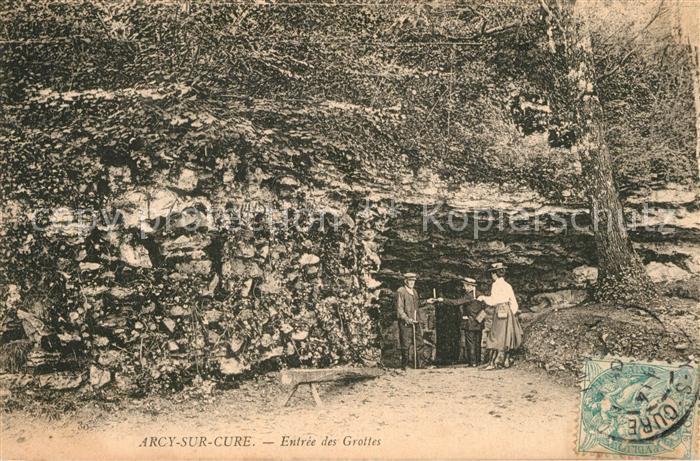 AK / Ansichtskarte Arcy sur Cure_Yonne Entree des Grottes Arcy sur Cure Yonne 0