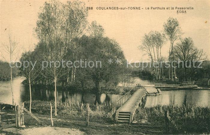 AK / Ansichtskarte Coulanges sur Yonne Le Perthuis et la Passerelle EDSA Coulanges sur Yonne 0