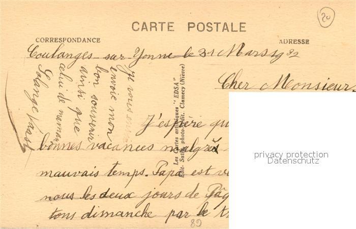 AK / Ansichtskarte Coulanges sur Yonne Le Perthuis et la Passerelle EDSA Coulanges sur Yonne 1