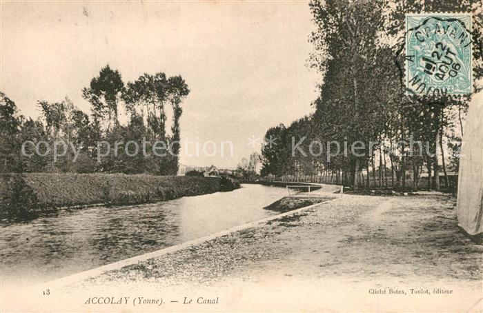 AK / Ansichtskarte Accolay Le Canal Accolay