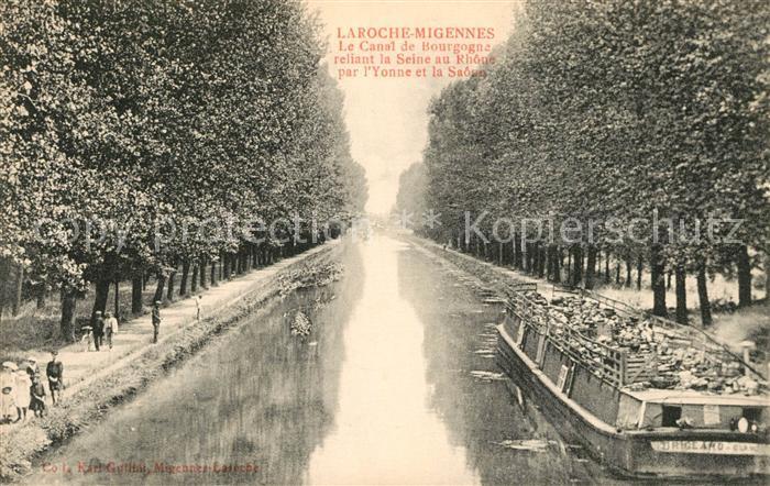 AK / Ansichtskarte Laroche_Migennes Le Canal de Bourgogne Laroche Migennes