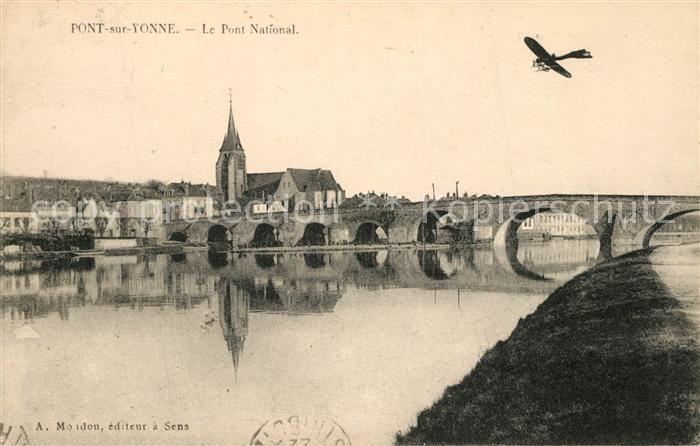 AK / Ansichtskarte Pont sur Yonne Le Pont National Pont sur Yonne