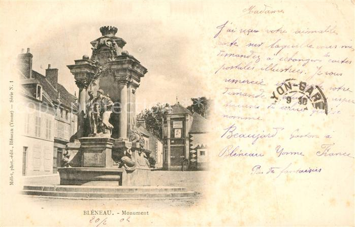 AK / Ansichtskarte Bleneau Monument Bleneau 0