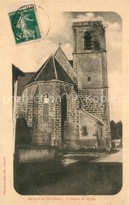 AK / Ansichtskarte Mailly le Chateau Abside de l Eglise Mailly le Chateau