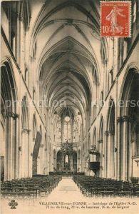 AK / Ansichtskarte Villeneuve sur Yonne Interieur de l'Eglise ND Villeneuve sur Yonne