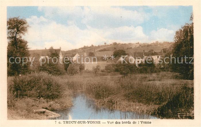 AK / Ansichtskarte Trucy sur Yonne Vue des bords de l Yonne Trucy sur Yonne