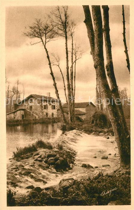 AK / Ansichtskarte Saint Auvent Moulin du Pont Rendez vous des Pecheurs Saint Auvent