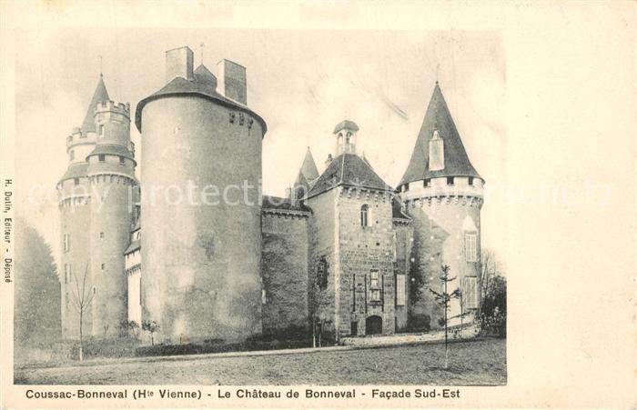 AK / Ansichtskarte Coussac Bonneval_Haut_Vienne Le Chateau de Bonneval Facade Sud Ouest Coussac Bonneval_Haut 0