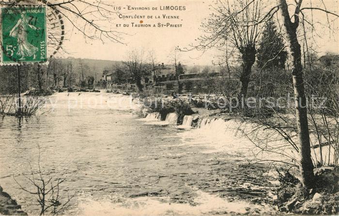 AK / Ansichtskarte Limoges_Haute_Vienne Confluent de la Vienne et du Taurion a St Priest Limoges_Haute_Vienne