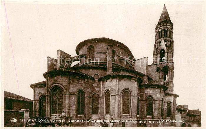 AK / Ansichtskarte Saint Leonard de Noblat Eglise Monument historique Saint Leonard de Noblat