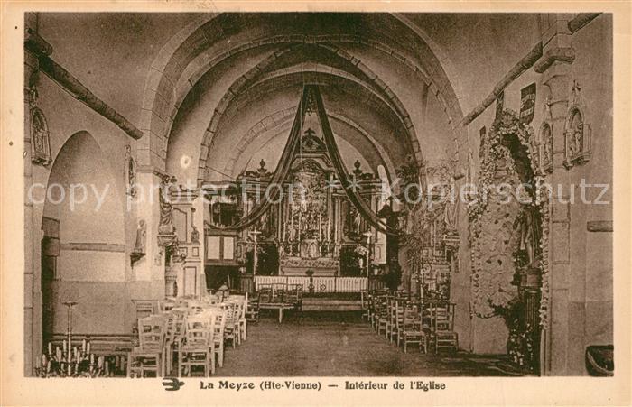 AK / Ansichtskarte La_Meyze Interieur de l'Eglise  La_Meyze 0