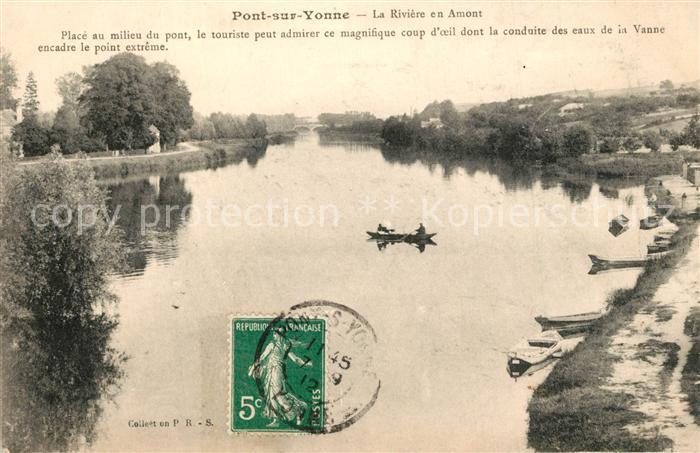 AK / Ansichtskarte Pont sur Yonne La Riviere en Amont Pont sur Yonne