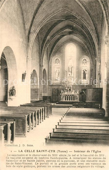 AK / Ansichtskarte La_Celle Saint Cyr Interieur de l Eglise La_Celle Saint Cyr