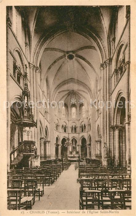 AK / Ansichtskarte Chablis Interieur de l'Eglise Saint Martin Chablis 0