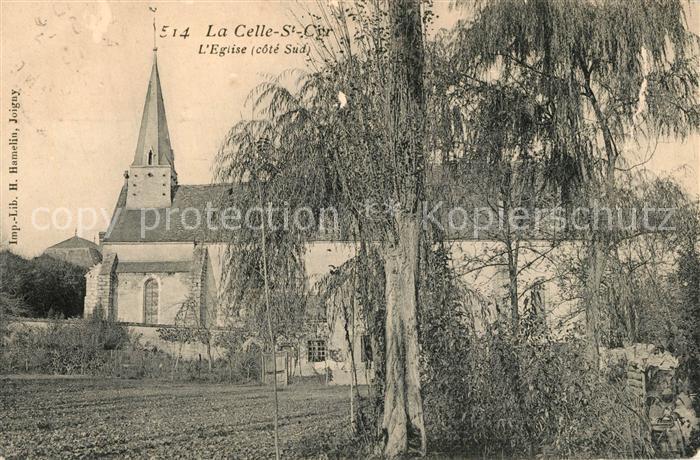AK / Ansichtskarte La_Celle Saint Cyr Eglise Cote Sud La_Celle Saint Cyr