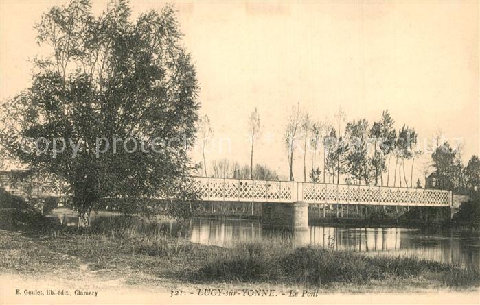 AK / Ansichtskarte Lucy sur Yonne Le Pont Lucy sur Yonne